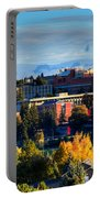 Washington State University In Autumn Portable Battery Charger by David Patterson