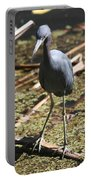 Watchful Little Blue Heron  Portable Battery Charger