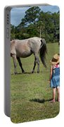 Watching The Wild Horses Portable Battery Charger