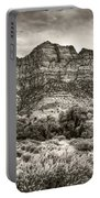 Watchman Trail In Sepia - Zion Portable Battery Charger