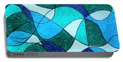 Water Abstract Portable Battery Charger