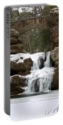Water And Ice Flow Portable Battery Charger