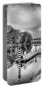 Water Bus Stop Bute Park Cardiff Mono Portable Battery Charger