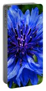 Water Color Bachelor's Button Portable Battery Charger