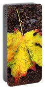 Water Colored Leaf - Autumn Portable Battery Charger