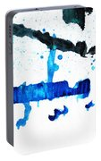 Water Dance - Blue And White Art By Sharon Cummings Portable Battery Charger