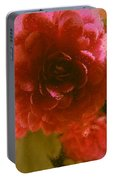 Water Droplets Beautiful Flowers Portable Battery Charger
