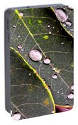 Water Drops Leaves Portable Battery Charger