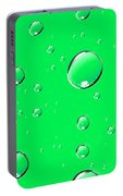 Water Drops On Green Portable Battery Charger