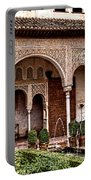 Water Gardens Of The Palace Of Generalife Portable Battery Charger