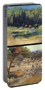 Water Hole Safari Portable Battery Charger