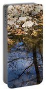 Water Leaves Stones And Branches Portable Battery Charger