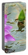 Water Lilies 001 Portable Battery Charger
