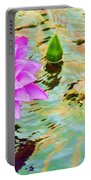 Water Lilies 002 Portable Battery Charger