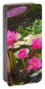 Water Lilies 009 Portable Battery Charger