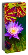 Water Lilies Portable Battery Charger