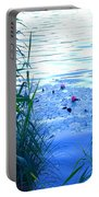 Water Lilies Blue Portable Battery Charger
