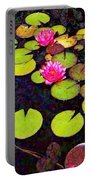 Water Lilies With Pink Flowers - Vertical Portable Battery Charger