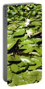 Water Lillies Portable Battery Charger