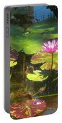 Water Lilly Garden Portable Battery Charger