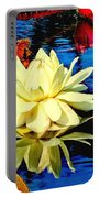 Water Lilly Pond Portable Battery Charger by Nick Zelinsky