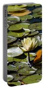Water Lily And Bees Portable Battery Charger