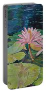 Water Lily In The Morning Portable Battery Charger