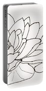 Water Lily Line Drawing Portable Battery Charger