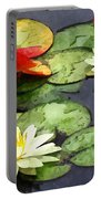 Water Lily Pond In Autumn Portable Battery Charger