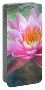 Water Lily Portable Battery Charger by Sandi OReilly