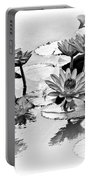 Water Lily Study - Bw Portable Battery Charger