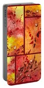 Water On Color Collage Eight Portable Battery Charger