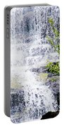 Water Over Rocks At Misty Fjords National Monument-alaska Portable Battery Charger