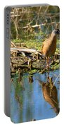 Water Rail Reflection Portable Battery Charger