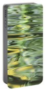 Water Reflection Green And Yellow Portable Battery Charger