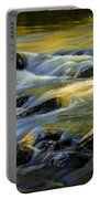 Beautiful Water Reflections On The Flowing Thornapple River Portable Battery Charger