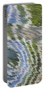 Water Ripples In Blue And Green Portable Battery Charger