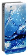 Water Splash Portable Battery Charger by Michal Bednarek
