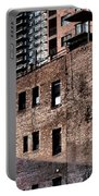 Water Tower With Cityscape Portable Battery Charger