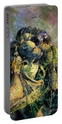 Watercolor Batik Venice Italy Portable Battery Charger
