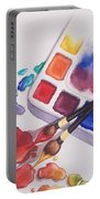 Watercolor Drops Portable Battery Charger