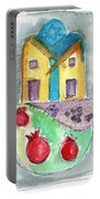 Watercolor Hamsa  Portable Battery Charger by Linda Woods
