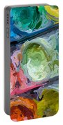 Watercolor Ovals Two Portable Battery Charger