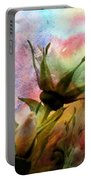 Watercolor Roses Portable Battery Charger