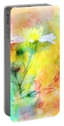 Watercolor Wildflowers - Digital Paint Portable Battery Charger