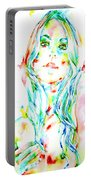 Watercolor Woman.1 Portable Battery Charger