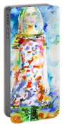Watercolor Woman.18 Portable Battery Charger