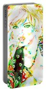 Watercolor Woman.3 Portable Battery Charger