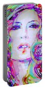 Watercolor Woman.32 Portable Battery Charger