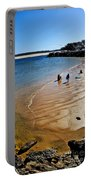 Watercolors At The Beach Portable Battery Charger